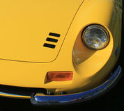 Classic Ferrari sports car headlamp and vent Royalty Free Stock Photography