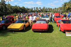 Classic Ferrari 328 sports car. Lined up in a row at public event at 2012 cavallino concorso d'eleganza at the breakers in west palm beach south florida Stock Photo