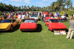 Classic Ferrari 328 sports car. Lined up in a row at public event at 2012 cavallino concorso deleganza at the breakers in west palm beach south florida Stock Image
