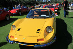 Classic Ferrari sports car lineup front view Stock Images