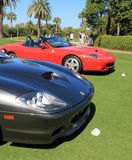 Classic ferrari sports car lineup. Classic 1990s Ferrari lineup frontends Stock Photography