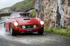 Classic Ferrari 250 SWB. Classic Ferrari racing in North Wales stock image