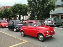 Classic Fiat 500 Italian cars Royalty Free Stock Photos