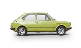 Classic Fiat 127 isolated on white stock photo