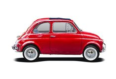 Classic Fiat 500. Side view isolated on white Royalty Free Stock Image