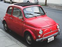 Classic Fiat. On the streets of San Francisco California Stock Photography