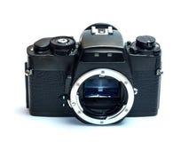 Classic film camera isolation on white. Classic old fashioned film camera isolation on white background Stock Photo