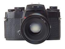 Classic film camera isolation on white. Classic old fashioned film camera isolation on white background Stock Image