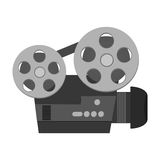 Classic film projector icon. Flat design classic film projector icon  illustration Royalty Free Stock Photos