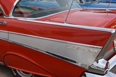 Classic fins of the 1957 Chevy Royalty Free Stock Photo