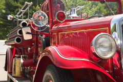 Classic Fire Engine. Antique Fire Engine royalty free stock photo