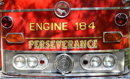 Classic Fire Engine. Image of the front of a classic fire engine shot at a classic car show in Poinciana, FL Stock Image