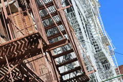 Classic Fire Escapes in SOHO NYC Royalty Free Stock Photography