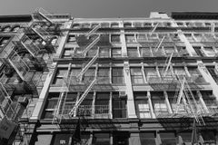 Classic Fire Escapes in SOHO NYC Stock Images