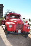 Classic fire truck. Parked in the desert in an old mining ghost town Royalty Free Stock Photos