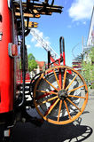 Classic firefighter truck hose Stock Images
