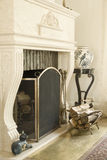 Classic fireplace. In a perspective Stock Photo
