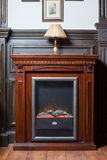 Classic fireplace at home Royalty Free Stock Photos