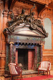 Classic fireplace in the Polovtsov mansion Stock Image