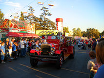Classic Firetruck, Los Angeles County Fair, Fairplex, Pomona, California. Local parade classic firetruck, Los Angeles County Fair, Fairplex, Pomona, California Royalty Free Stock Image