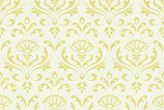 Classic floral seamless background. Stock Photography
