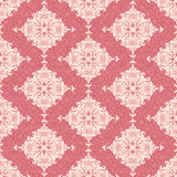 Classic floral wallpaper. Seamless pattern in pink and beige stock illustration
