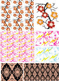 classic floral wallpaper print pattern Royalty Free Stock Photo