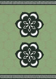 Classic flower Pattern Background Set Stock Photography