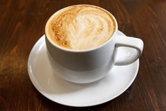 Classic foamy cappuccino Stock Photography