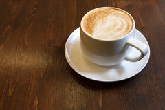Classic foamy cappuccino Royalty Free Stock Photography