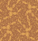 Classic foliage swirl seamless pattern Royalty Free Stock Photo