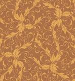 Classic foliage swirl seamless pattern stock illustration
