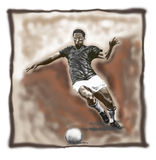 Classic Football. Player stock illustration