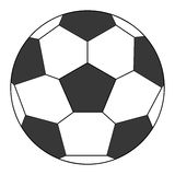 classic football icon Royalty Free Stock Image