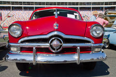 Classic 1950 Ford Automobile. CONCORD, NC -- SEPTEMBER 20, 2014: A 1950 Ford automobile on display at the Charlotte AutoFair classic car show held at Charlotte royalty free stock image