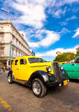 Classic Ford car on a beautiful day in Havana Stock Photography