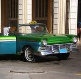 Classic Ford car, Havana. Classic Ford car used as a taxi on Havana street, Cuba Royalty Free Stock Photo