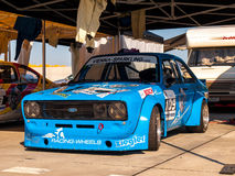 Classic Ford Escort race car Royalty Free Stock Photos