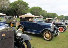 Classic ford lineup. Early 20th century ford model a lineup at 2012 concours in boca raton Stock Photo