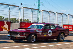 Classic Ford Mustang race car Stock Image