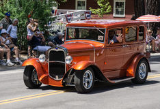 Classic Ford on Parade in Graeagle Stock Image