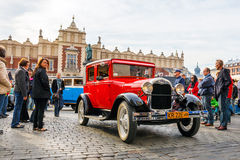 Classic Ford on the rally of vintage cars in Krakow, Poland Royalty Free Stock Images