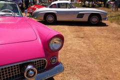 Classic Ford Thunderbird's Headlight and Front View Royalty Free Stock Photos