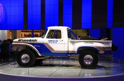 Classic ford truck is displayed at the auto show Royalty Free Stock Image