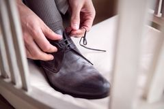 Classic Formal Leather Shoe Stock Images