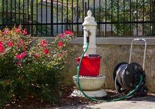 Classic Fountain in a Garden Royalty Free Stock Photos