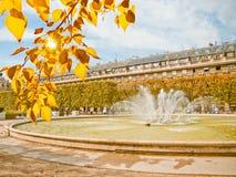 Classic fountain in paris royal park Stock Photo