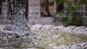 Classic Fountain. With Water on Slow Motion stock video footage