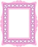 classic frame pink 库存例证