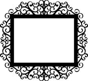 Classic frame silhouette in black Royalty Free Stock Photos